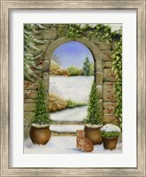 Framed Christmas Garden