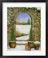 Framed Christmas Garden