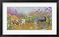 Framed Kittens And Butterflies