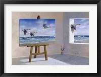 Framed Goose