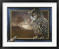 Framed Eagle Owl And Mouse