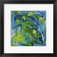 Framed Liquid Industrial IV - Canvas VII