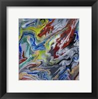 Framed Liquid Industrial IV - Canvas X