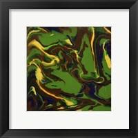 Framed Liquid Industrial IV - Canvas XII