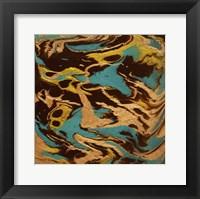 Framed Liquid Industrial IV - Canvas XIV