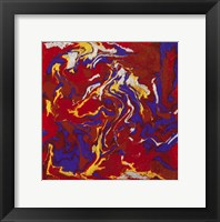 Framed Liquid Industrial IV - Canvas XV