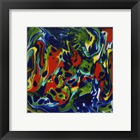 Framed Liquid Industrial IV - Canvas XX