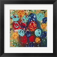 Framed Abstract Flowers 3 - Canvas 1