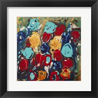Framed Abstract Flowers 3 - Canvas 2