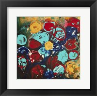 Framed Abstract Flowers 3 - Canvas 3