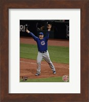 Framed Anthony Rizzo celebrates the final out of Game 7 of the 2016 World Series