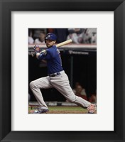 Framed Ben Zobrist RBI Double Game 7 of the 2016 World Series