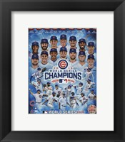 Framed Chicago Cubs 2016 World Series Champions Composite