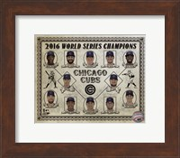 Framed Chicago Cubs 2016 World Series Champions Vintage Composite