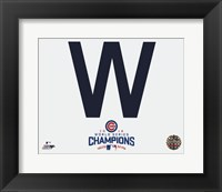 Framed Cubs W 2016 World Series Champions