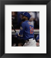 Framed Dexter Fowler Home Run Game 7 of the 2016 World Series