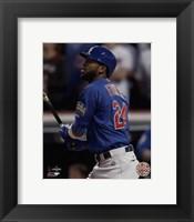 Framed Dexter Fowler Home Run Game 7 of the 2016 World Series