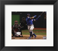 Framed Javier Baez Home Run Game 7 of the 2016 World Series
