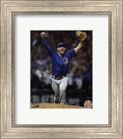Framed Kris Bryant celebrates the final out of Game 7 of the 2016 World Series