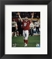 Framed Steve Young Super Bowl XXIX Action