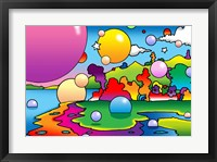 Framed Bubbles Landscape