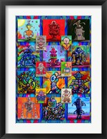 Framed Pop Art Robots