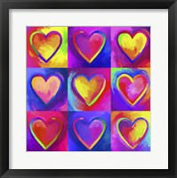 Framed Pop Art Heart 2