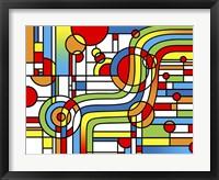 Framed Pop Art Stripes Curve
