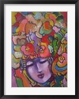 Framed Mardi Gras Lady 6154