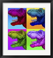 Framed Pop Art Dinosaurs 1