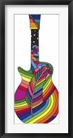 Framed Guitar Feather