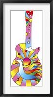 Framed Pop Art Guitar Dove