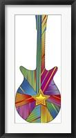 Framed Pop Art Guitar Star