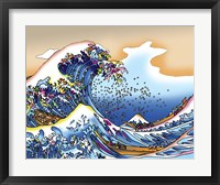 Framed Pop Art Great Wave