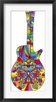 Framed Pop Art Guitar Butterfly