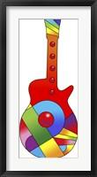 Framed Pop Art Guitar Red Ball
