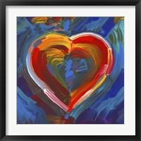 Framed Pop Art Heart Icon