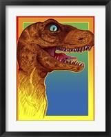 Framed Pop Art Dinosaur 3