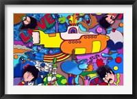 Framed Beatles Yellow Sub