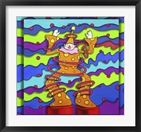 Framed Pop Art Clown