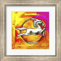 Framed Pop Art Deco Horse Circle