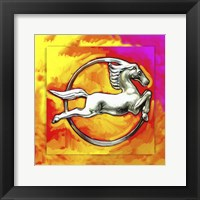 Framed Pop Art Deco Horse Circle