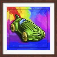 Framed Pop Art Deco Race Car Toy