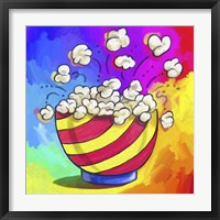 Framed Pop Art Popcorn Bowl