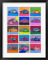 Framed Pop Art Classic Volvo