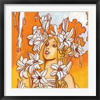 Framed Mucha Lady 116 3