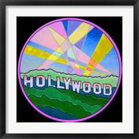 Framed Pop Art Hollywood Circle