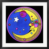 Framed Pop Art Moon Circle