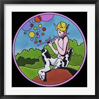 Framed Pop Art Pan Circle