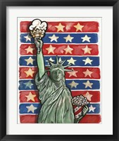Framed Popcorn Statue Of Liberty